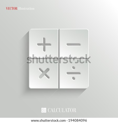 Calculator icon - vector web illustration, easy paste to any background - stock vector