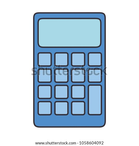 Calculator Math Device Icon Stock Photo (Photo, Vector, Illustration ...