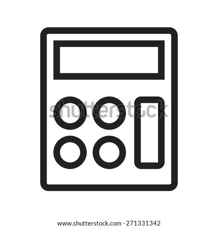 Calculator, mathematics, device icon vector image. Can also be used for banking, finance, business. Suitable for web apps, mobile apps and print media. - stock vector