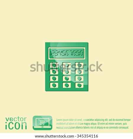 calculator. office sign