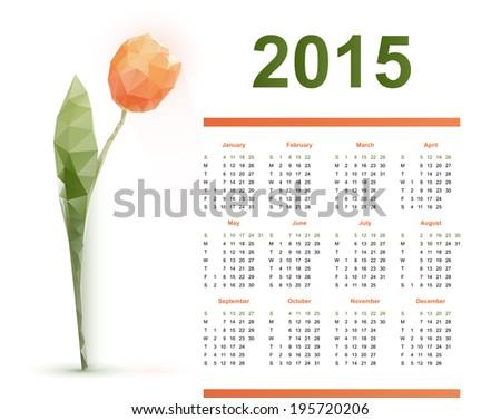 calendar - stock vector