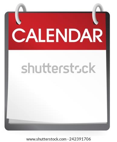Calendar Blank 2014 Vector - stock vector