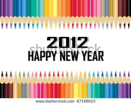 Calendar 2012 Cover - stock vector