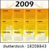 Calendar for 2009 - stock vector