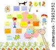 Calendar for 2012 - stock