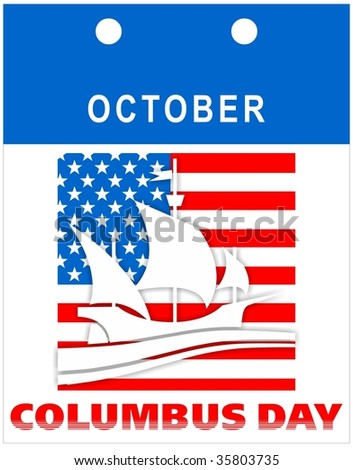 Calendar for Columbus Day