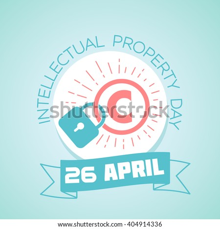 Calendar for each day on April 26. Greeting card. Holiday - World Intellectual Property Day. Icon in the linear style - stock vector