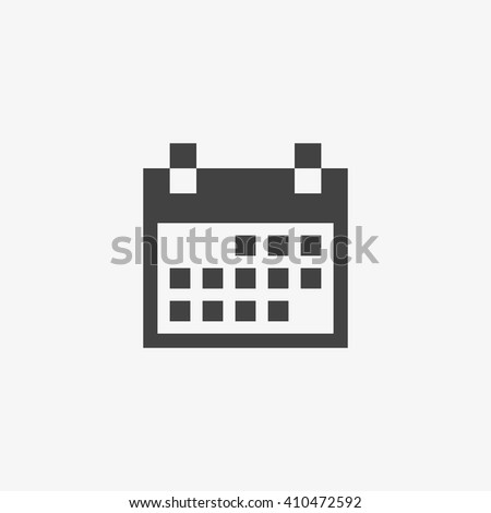 Calendar Icon in trendy flat style isolated on grey background. Calendar symbol for your web site design, logo, app, UI. Vector illustration, EPS10. - stock vector