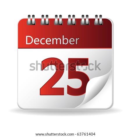calendar icon on white background - stock vector