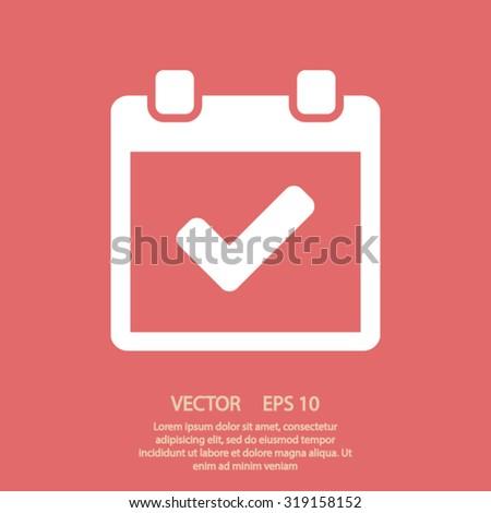 calendar icon. One of set web icons - stock vector