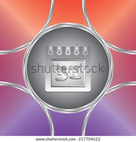 Calendar icon. Vector button. Colorful background               - stock vector