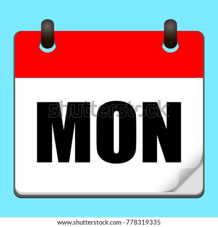 calendar monday