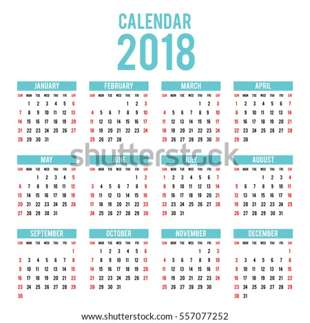 2018 Calendar Stock Images Royalty Free Images Amp Vectors