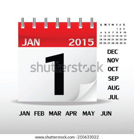 Calendar on white paper. Vector Illustration - stock vector