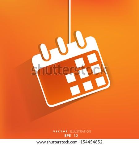 Calendar organizer web icon,flat design - stock vector