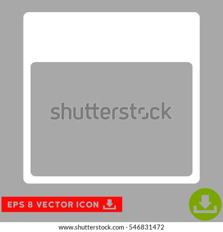 Calendar Page Template icon. Vector EPS illustration style is flat iconic symbol, white color.