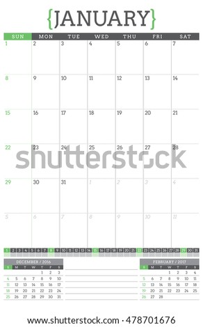 January Calendar Planner : Quot green braces stock photos royalty free images vectors