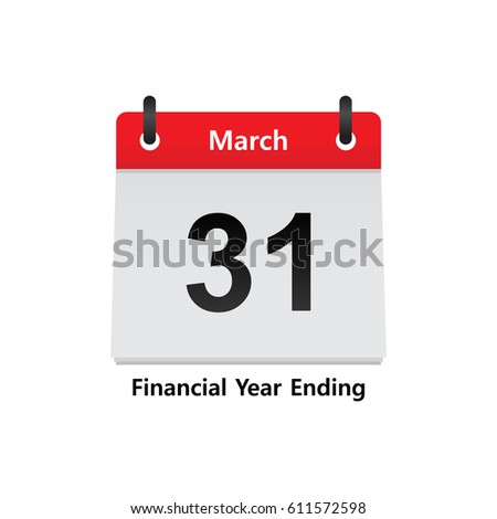 Calendar Fiscal Year End March  Stock Vector Hd Royalty Free