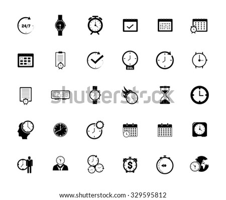 Calendar,time and event Icons - stock vector