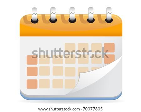 Calendar Vector - stock vector