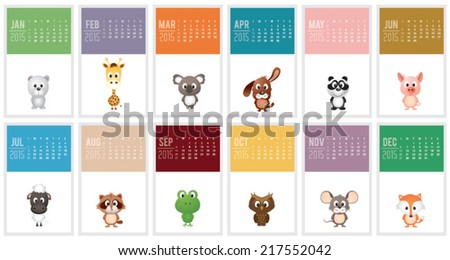Calendar 2015. Vector illustration - stock vector