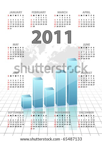 Calendar with chart for 2011