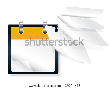 calendar with flying pages - stock vector