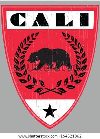 CALI SHIELD - stock vector
