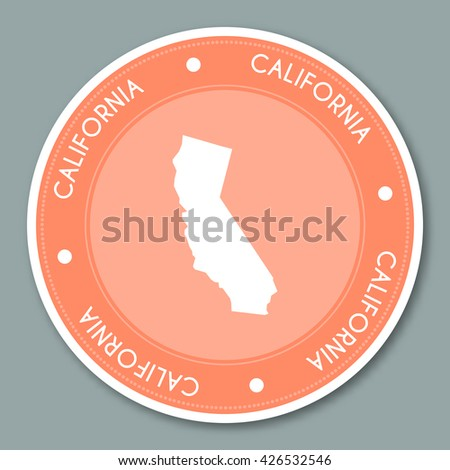 Vintage Label Map California Vector Stock Vector - Labeled us map vector