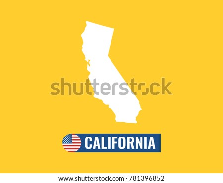 California map isolated on color background stock vector royalty california map isolated on color background silhouette california usa state american flag vector publicscrutiny Choice Image