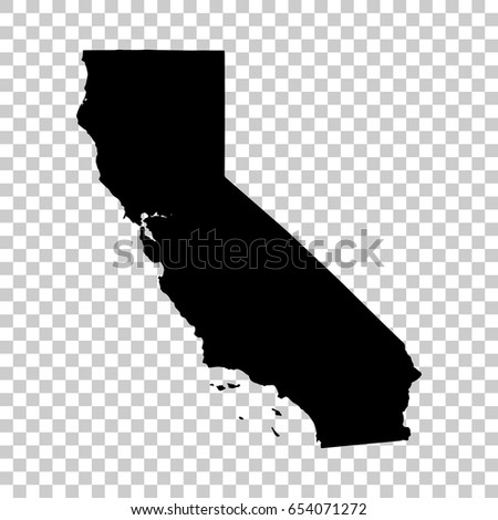 California Map Isolated On Transparent Background Stock Photo Photo