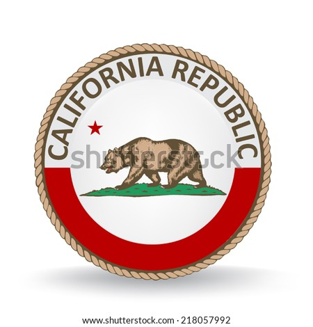 California Seal - stock vector