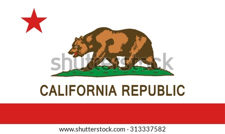 California state national flag. Vector EPS8 - stock vector