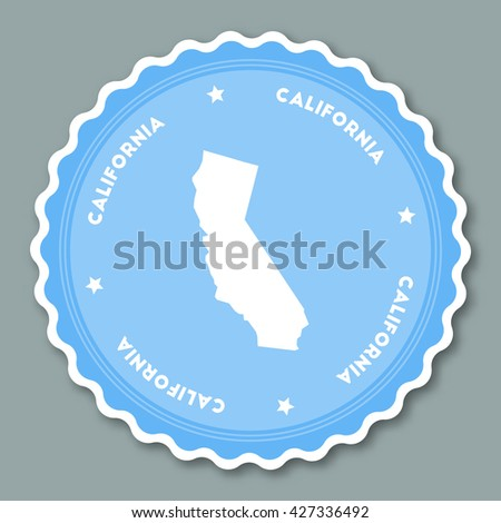 California Vector Seal Vintage Usa State Stock Vector - Us state sticker map