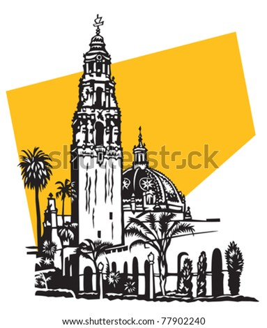 California tower in Balboa Park, San Diego