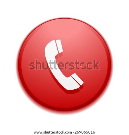 Call button - stock vector
