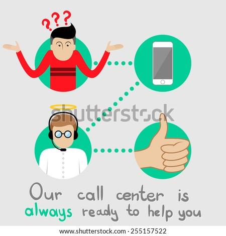 Call center - stock vector
