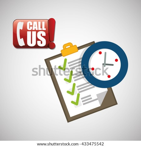 Call center design. customer service icon. Isolated illustration , vector