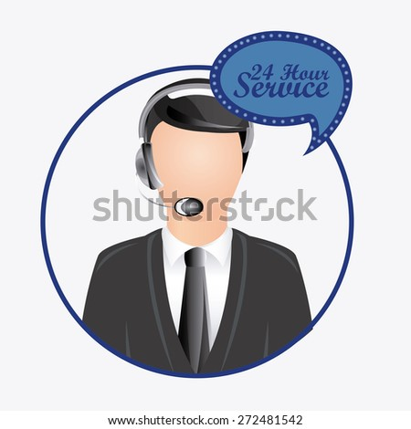 Call center design, vector illustration