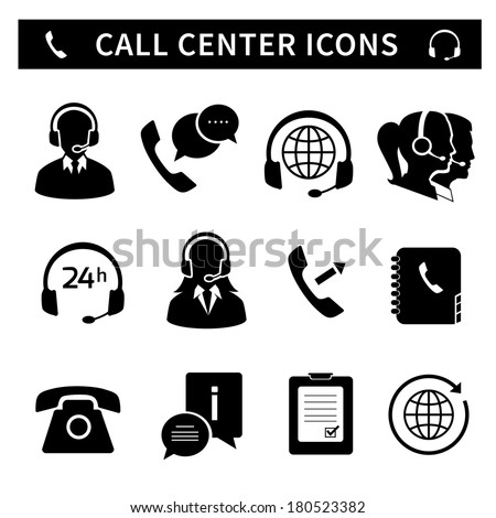 Service Center Icon Call Center Service Icons Set