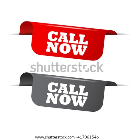 call now, red vector call now, gray element call now, sign call now, design call now, picture call now, illustration call now, button call now, call now eps10, set elements call now - stock vector