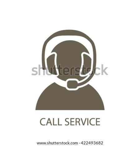 call service icon  - stock vector