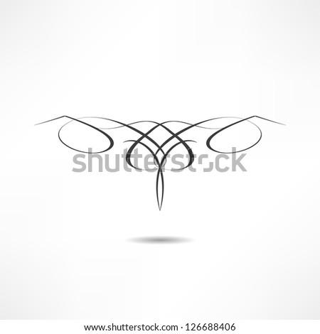 Calligraphic design element - stock vector