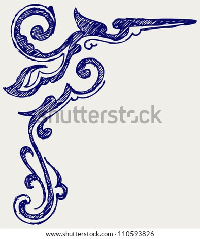 Calligraphic design element and page decoration - stock vector