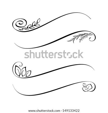 Calligraphic Design Elements Stock Vector 149133422