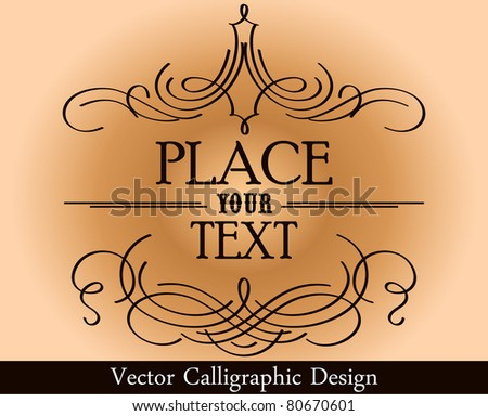 calligraphic design elements and page decoration - - stock vector