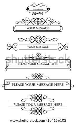 calligraphic design elements and page decoration. vector - stock vector