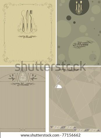 Calligraphic Menu Card - stock vector