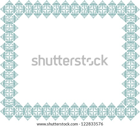 Calligraphic retro frame for page decoration. Vintage Vector Design Ornaments - stock vector
