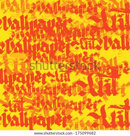 calligraphy background. vector Gothic wallpaper
